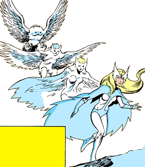 Snowbird (Alpha Flight) (Marvel Comics) turning from owl into woman