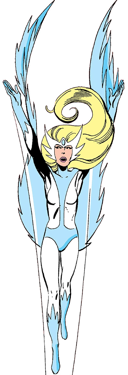 Snowbird (Alpha Flight) (Marvel Comics) soaring