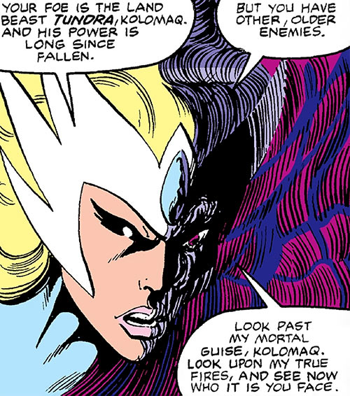 Snowbird (Alpha Flight) (Marvel Comics)'s true face