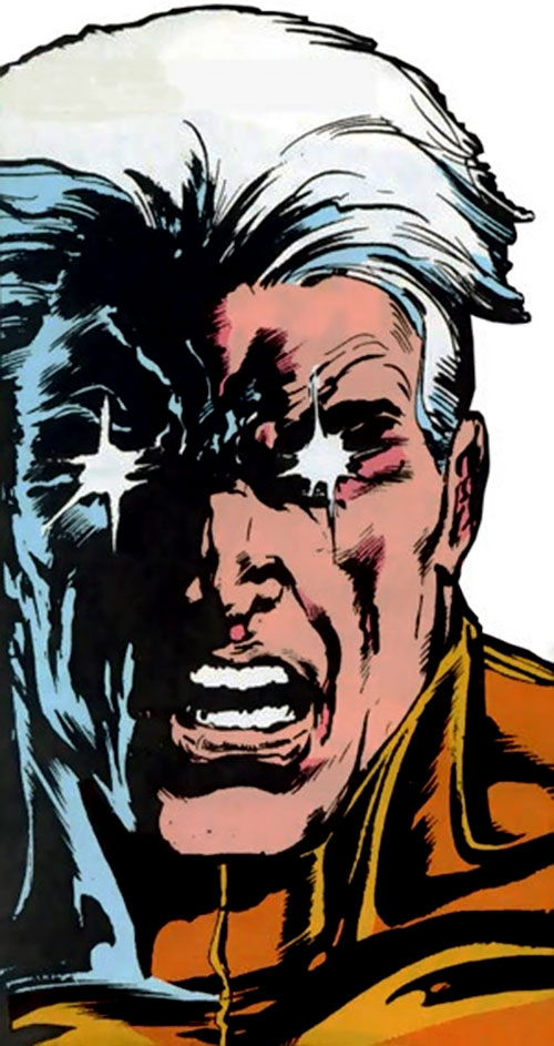 Snowblind (Ghost Rider enemy) (Marvel Comics) face closeup