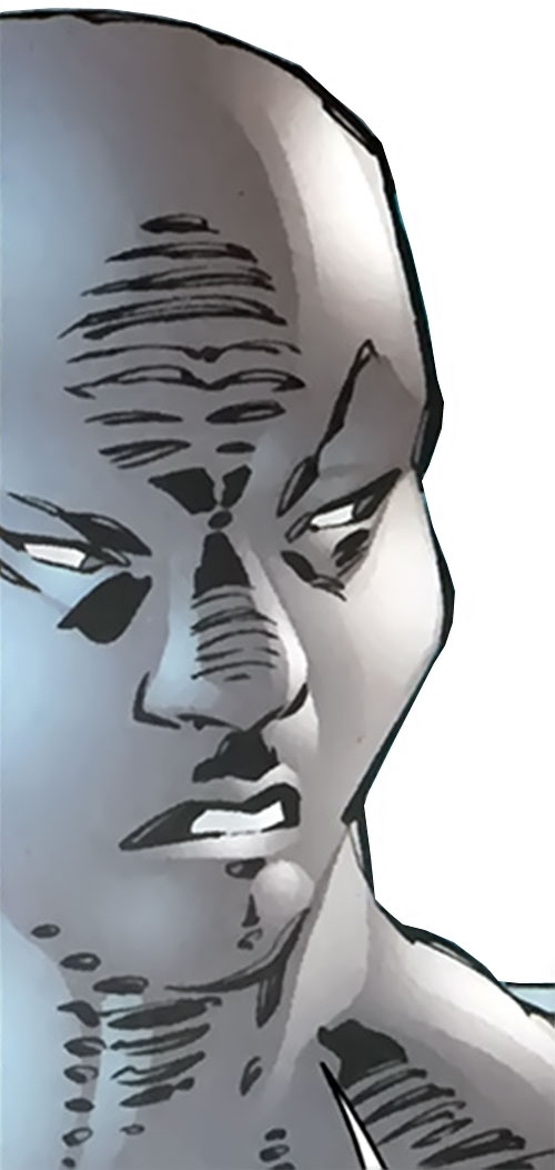 Socialist Red Guardsman of the Great 10 (DC Comics) face closeup