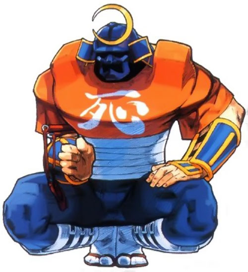 Sodom (Street Fighter) crouching