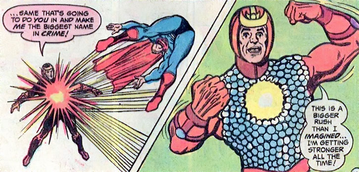 Solarman repels Superman