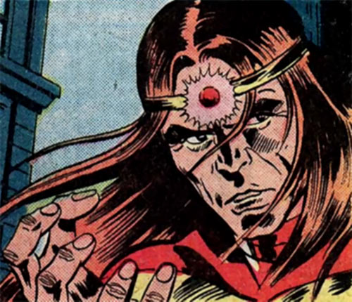 Solarr (Marvel Comics) face closeup