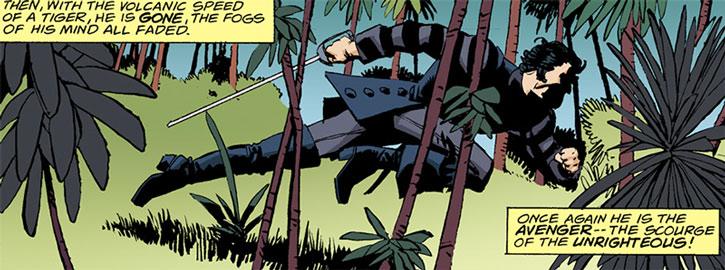 Solomon Kane running in the jungle by Howard Chaykin