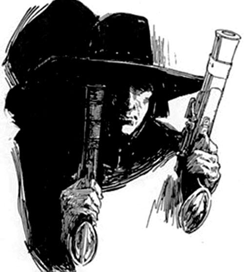 Solomon Kane dual-wielding pistols