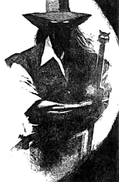 Solomon Kane in the shadows with the voodoo stick