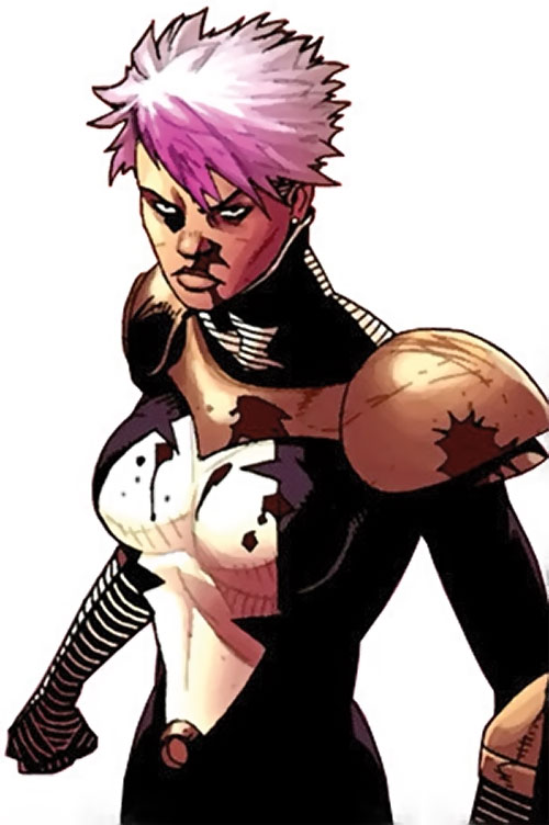 Songbird of the Thunderbolts (Marvel Comics) bloodied, short hair