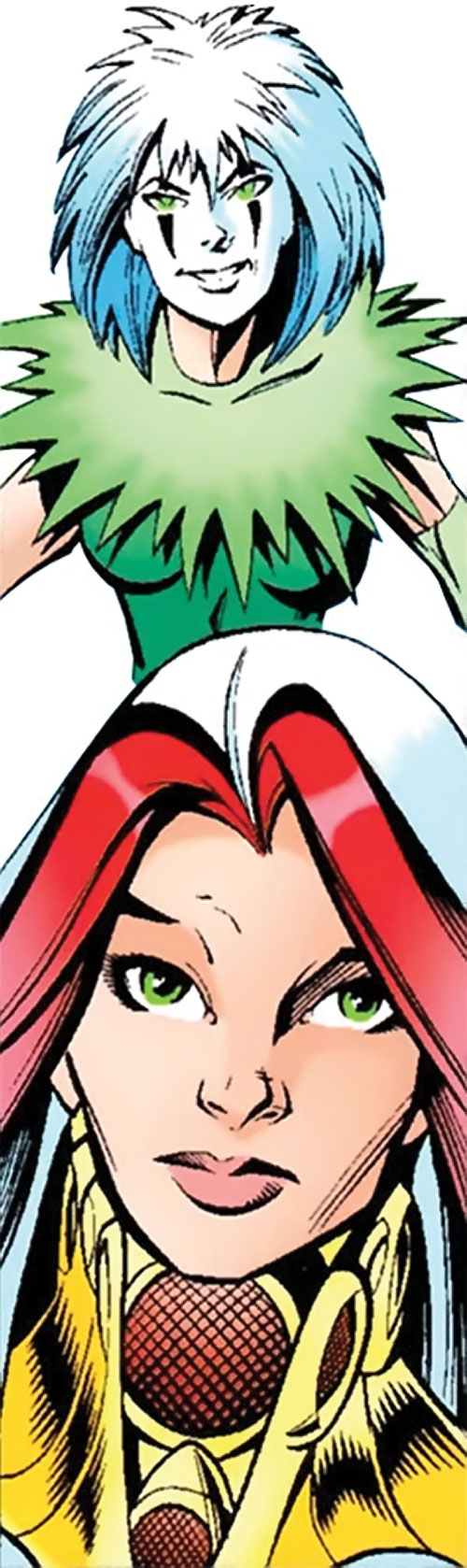 Songbird of the Thunderbolts (Marvel Comics) portrait as Songbird and as Screaming Mimi