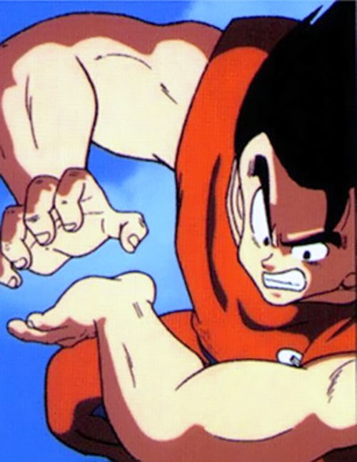 Songoku at 23 (Dragon Ball) preparing a kamehameha