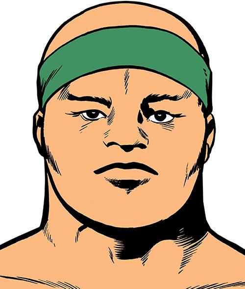 Jack Kirby's Sonny Sumo (DC Comics) face closeup