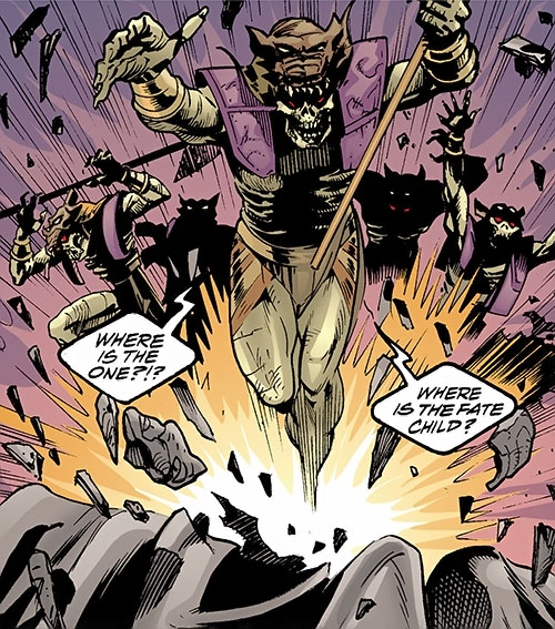 Sons of Anubis (JSA enemies) (DC Comics) emerging from the earth