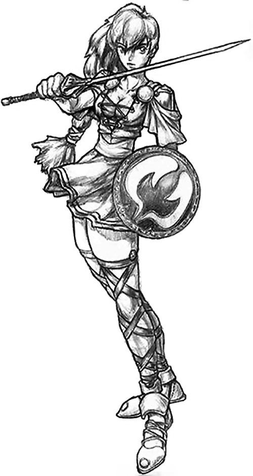 Sophitia Alexandria (Soul Calibur) B&W concept sketch