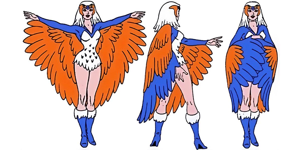 Sorceress of Grayskull (Masters of the Universe 1980s cartoon) - model sheet rotation