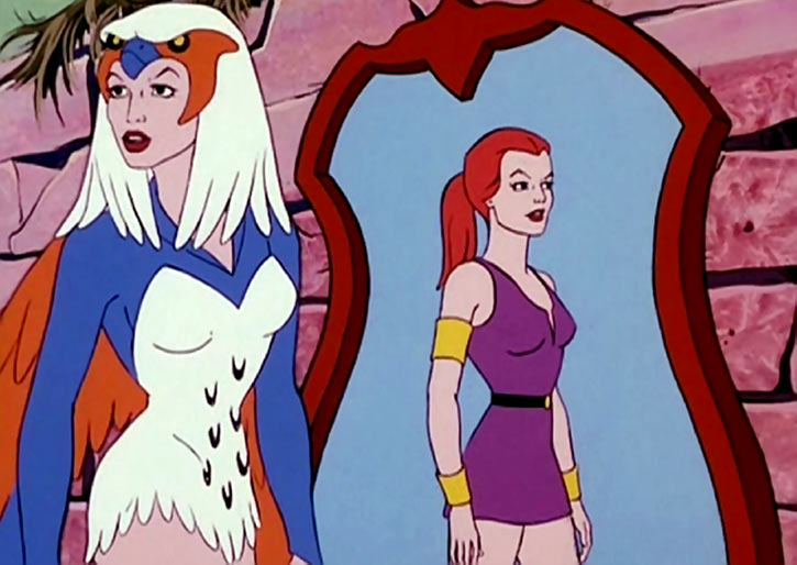 Sorceress of Grayskull (Masters of the Universe 1980s cartoon) present and past