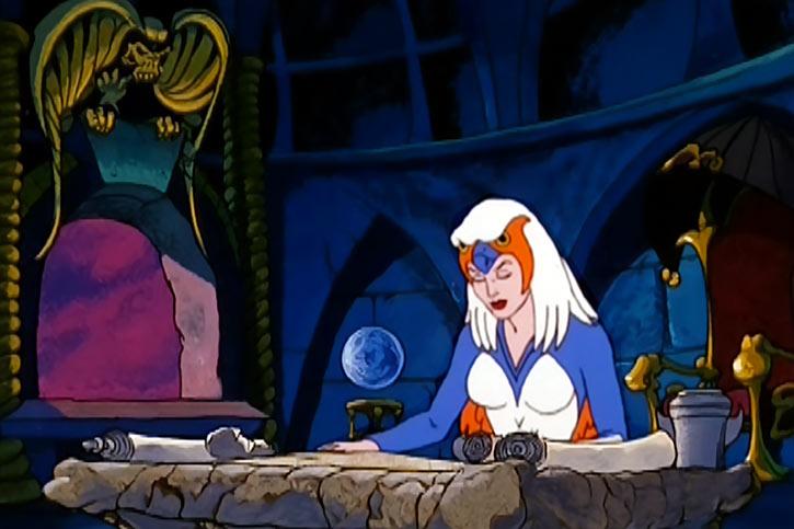 Sorceress of Grayskull (Masters of the Universe 1980s cartoon) studying