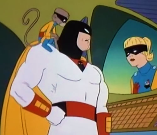 Space Ghost (Hanna Barbera cartoon) video conference with Jan and Blip