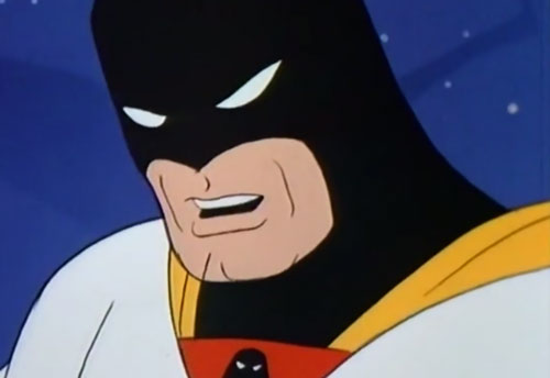 Space Ghost (Hanna Barbera cartoon) tough face closeup