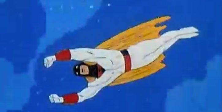 Space Ghost (Hanna Barbera cartoon) flying fists first