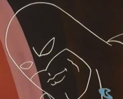 Space Ghost (Hanna Barbera cartoon) - invisible head closeup