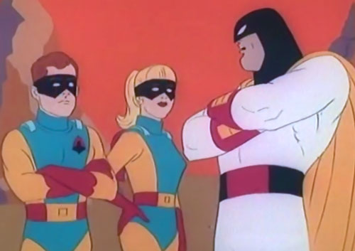 Space Ghost (Hanna Barbera cartoon) with Jace and Jan