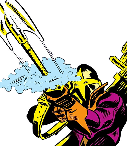 Spear (Luke Cage enemy) (Marvel Comics) firing his weapon