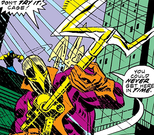 Spear (Luke Cage enemy) (Marvel Comics) readying his weapon