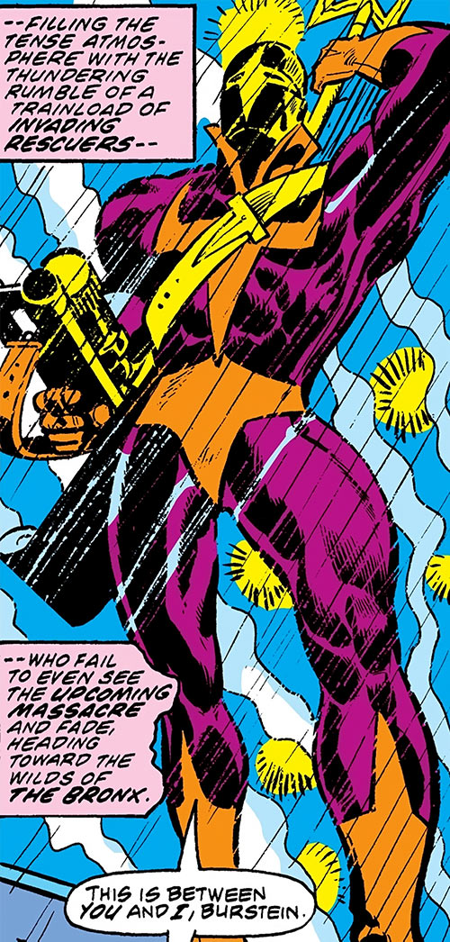 Spear (Luke Cage enemy) (Marvel Comics) under the rain
