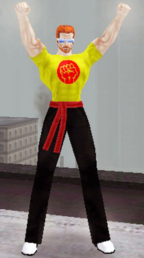 Special Brew (City of Heroes character) in a martial arts themed outfit