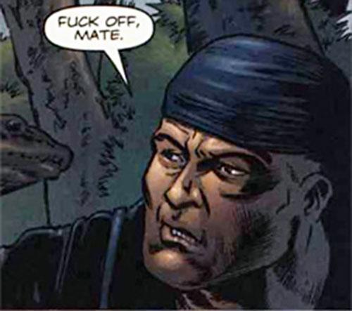 Specialist Foss (Fury MAX) (Marvel Comics) face closeup