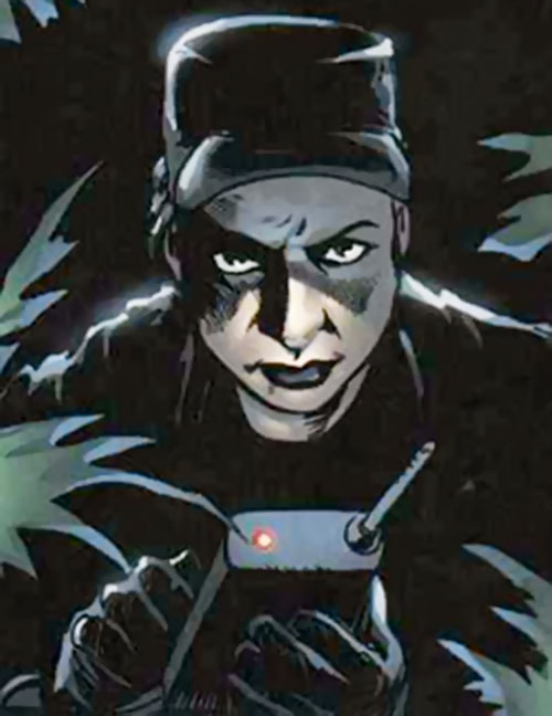 Specialist Steiner (Fury MAX) (Marvel Comics) with a detonator
