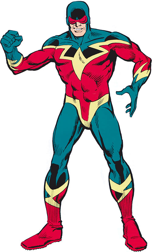 Speed Demon (Spider-Man enemy) (Marvel Comics) posing