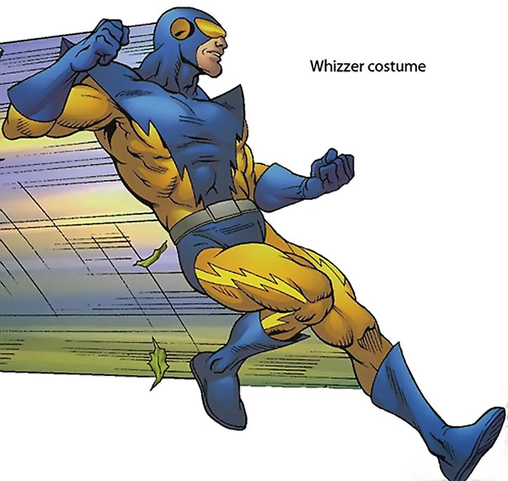 Speed Demon with his Whizzer costume