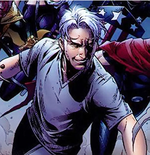 Speed (Marvel Comics) in a white sweater with the Young Avengers