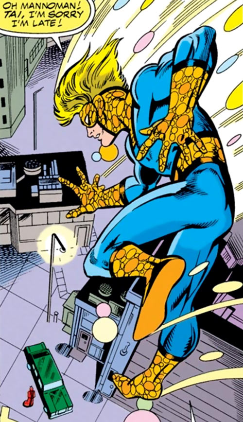 Speedball (Marvel Comics) (Classic career) landing