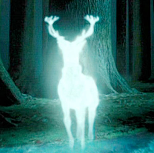 Ghost stag in Harry Potter