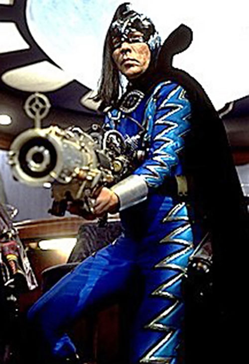 The Sphinx (Wes Studi in Mystery Men) with the shrinker ray