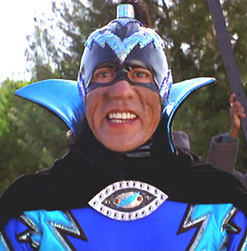 The Sphinx (Wes Studi in Mystery Men) in his blue costume