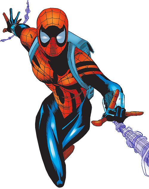 Spider-Girl (May Mayday Parker) (Marvel Comics MC2) webs and backpack