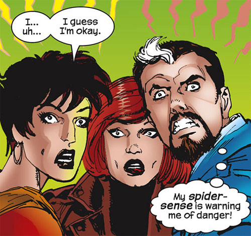Spider-Girl (May Mayday Parker) (Marvel Comics MC2) with her parents