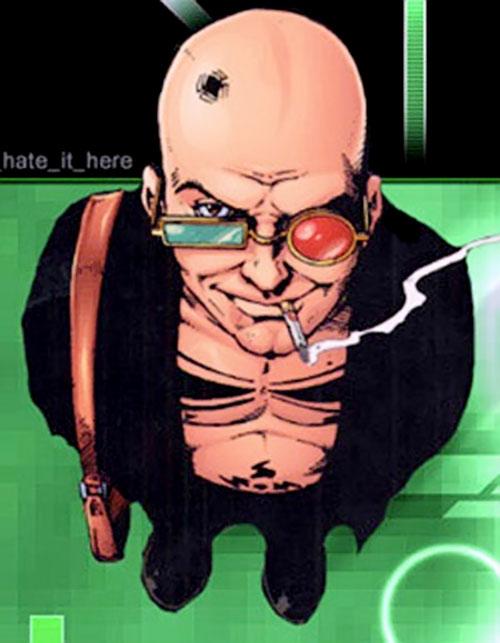 Spider Jerusalem (Transmetropolitan) (DC Comics) smirking