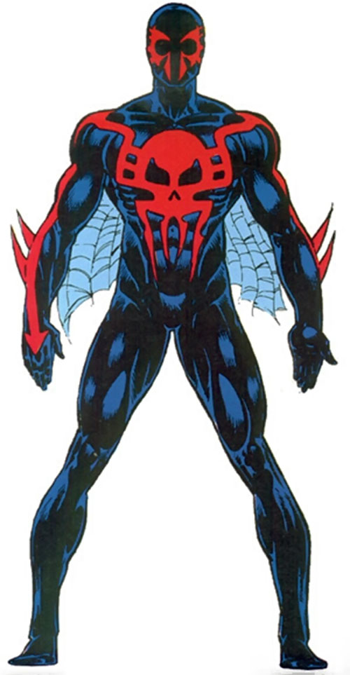 Spider-Man 2099 from the Master Edition Marvel Handbook