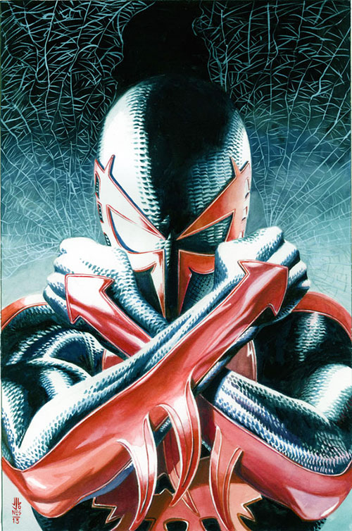 Spider-Man 2099 in a dramatic pose