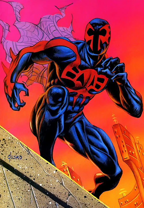 Spider-Man 2099 trading card by Joe Jusko