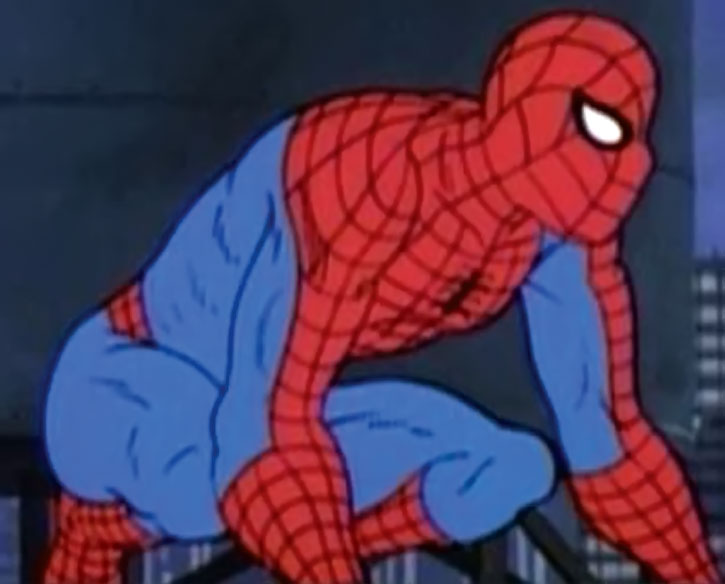 Spider-Man (Amazing Friends animated version) crouching