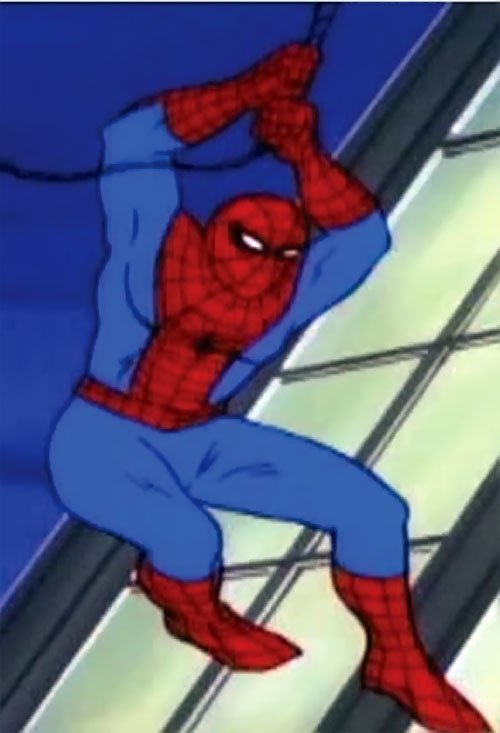 Spider-Man and his Amazing Friends cartoon - Spidey web-slinging