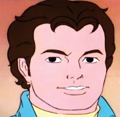 Spider-Man and his Amazing Friends cartoon - Peter Parker face closeup