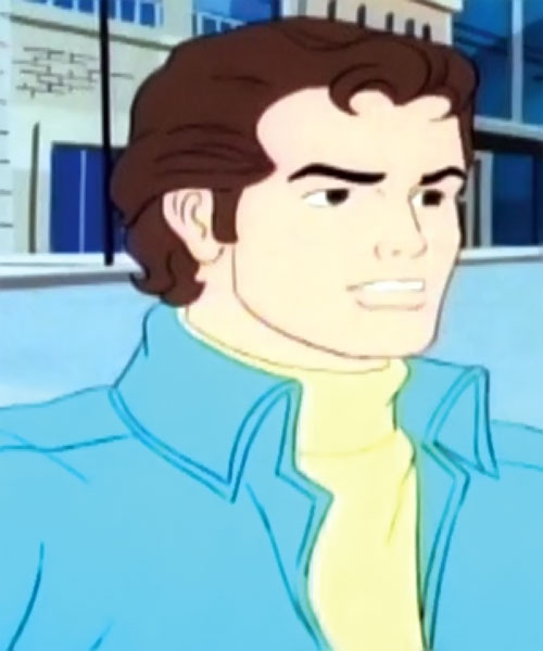 Spider-Man and his Amazing Friends cartoon - Peter Parker with blue jacket