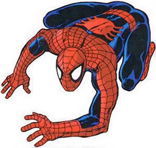 Spider-Man (Marvel Comics) (Peter Parker) wall-crawling