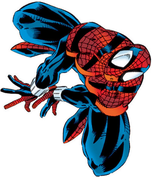 Spider-Man (Marvel Comics) (Peter Parker) in one of the 1990s costumes